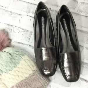 Bellini metallic flats loafers 11